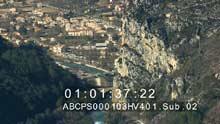 Alpes de Haute-Provence enneigées, barrage du Castillon