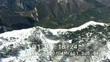 Alpes enneigées près de Digne-les-Bains