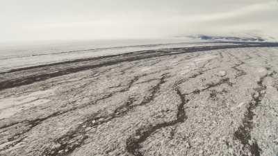 Paysage glaciaire près de la base McMurdo