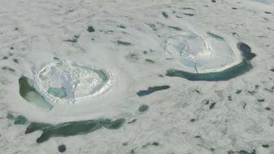 Formes glaciaires naturelles rondes