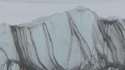 Enormes blocs de glace