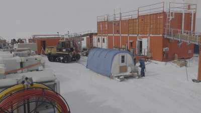 Déplacement d'équipement par mauvais temps pour le programme scientifique Solarice