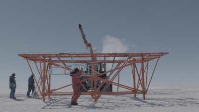 Construction de la structure d'un abri, programme Superdarn