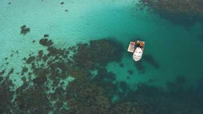 Bateaux de pêche aux îles Abrolhos