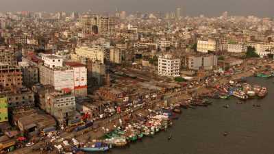 Port Sadarghat, pousse-pousse