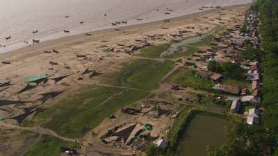 Village de pêcheur au sud de Chittagong