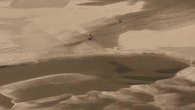 Semence de graines et culture sur le sable