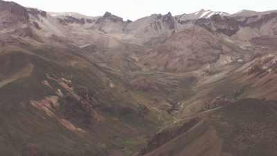 montagnes et vallées dans la Cordillère