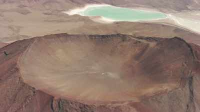 Laguna Verde et volcans Juriques et Licancabur