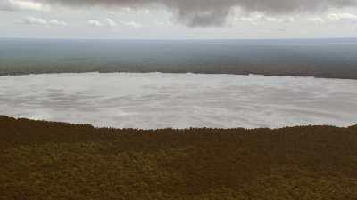 Reflets du ciel dans le lac Télé