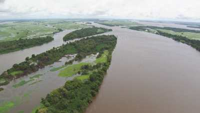 Plans larges des îles du fleuve