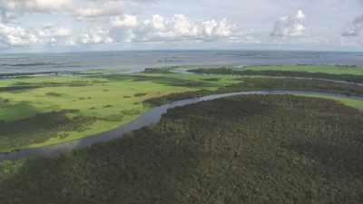 Marécages et paysages près d'Oyo
