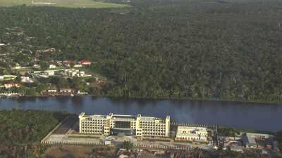 La ville d'Oyo sur la rivière Alima
