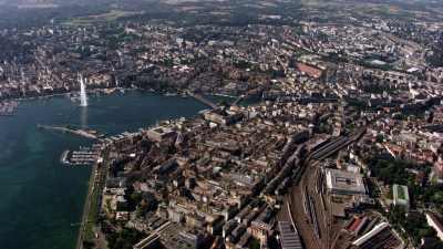 Vue d'ensemble de la ville de genève, zoom