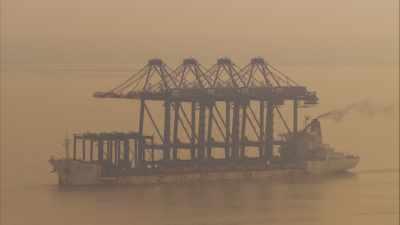 Trafic maritime au large de Shanghai