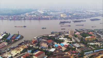 Paysage urbain, baie de Hangzhou