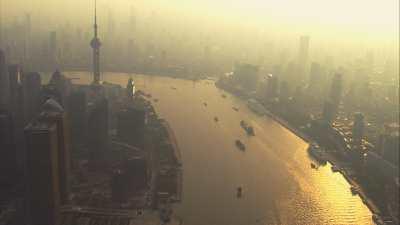 Atmosphère polluée le soir