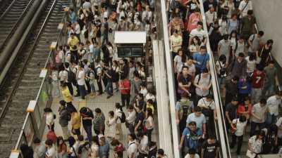 Heure de pointe dans le métro de Pékin