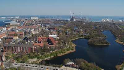 Copenhague, pont Langebro, canal et centre ville