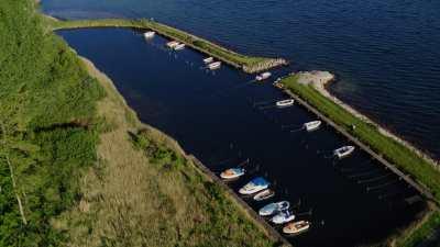 Petit port et campagne à Rendbjerg près de Sonderborg