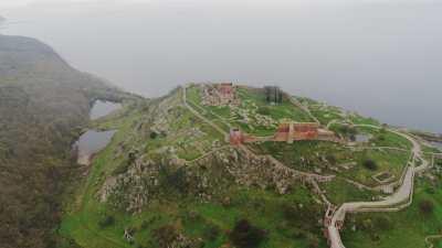 Le Château médiéval Hammershus sur l'Île de Bornhholm