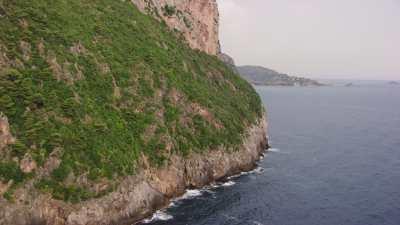 Côte près du phare de Cap Carbon