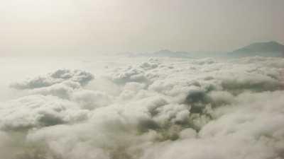 Nuages, collines et montagnes en petite Kabylie