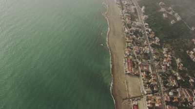 Nuages au dessus de la côte dans le Golfe de Béjaïa
