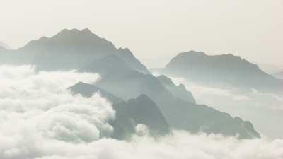 Montagnes dans les nuages en petite Kabylie