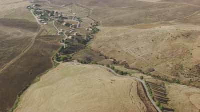 Champs et collines au sud du Golfe de Béjaïa