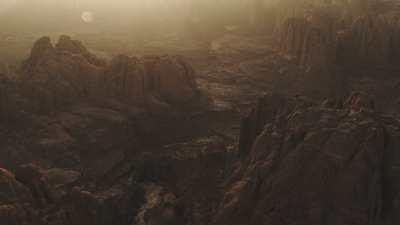 Canyons au crépuscule