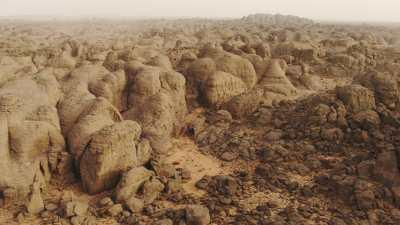 Formations rocheuses dans le désert