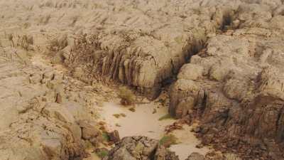 Canyons arbres et eau dans le creux