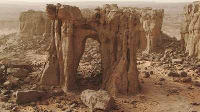 Formations rocheuses en arches
