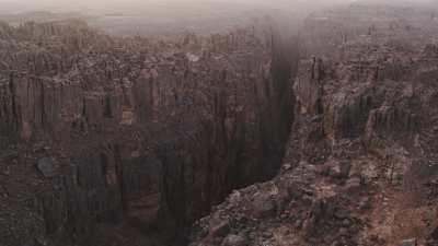 Canyon et gros plan sur des formations rocheuses rondes