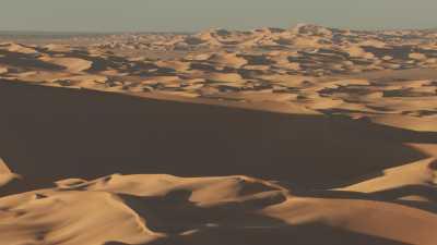 Les formes douces des dunes sahariennes et ombres