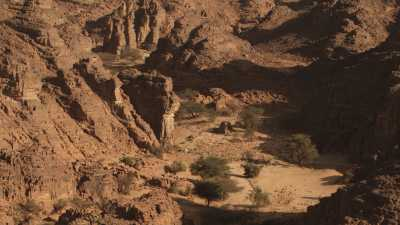 Désert rocheux dans la région de Djanet