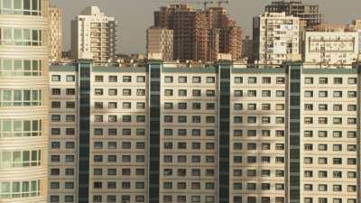Immeubles modernes d'une ville en mutation