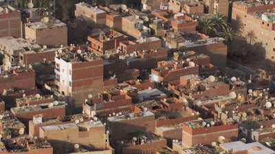 Agglomérations au sud du Caire