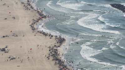 Villes et plages populeuses près d'Alexandrie