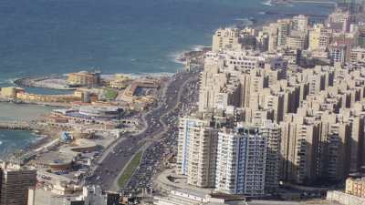 Alexandrie, la baie, la citadelle de Qaitbay