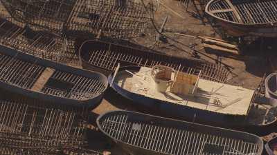 Chantier naval traditionnel près de Rosette