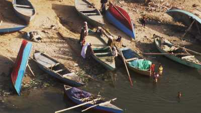 Village de pêcheurs au bord du Nil