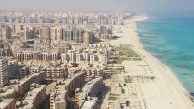 Immeubles sur la côte à Alexandrie