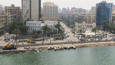 Bibliothèque d'Alexandrie, mosquée sur la côte