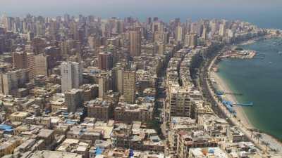 Vues d'Alexandrie, rues et baie