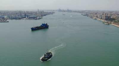 Plages de Port-Saïd et sortie du port