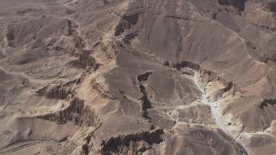 Vue verticale du temple d'Hatchepsout