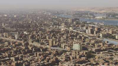 Assouan, survol de la ville
