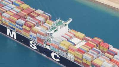 Cargo sur le Canal de Suez